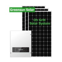 Factory Price Grid Tied 5kw Residential Solar Panel Kit 5000W Solar System Home