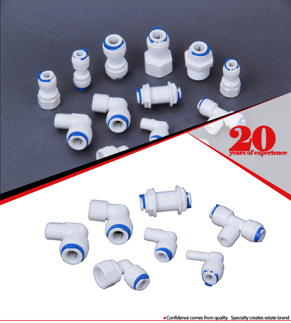 Q1 RO system plastic quick connect pipe Connector,water filter Quick Fitting