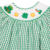 Long shape St Patrick smocked girl bubble - BB1821
