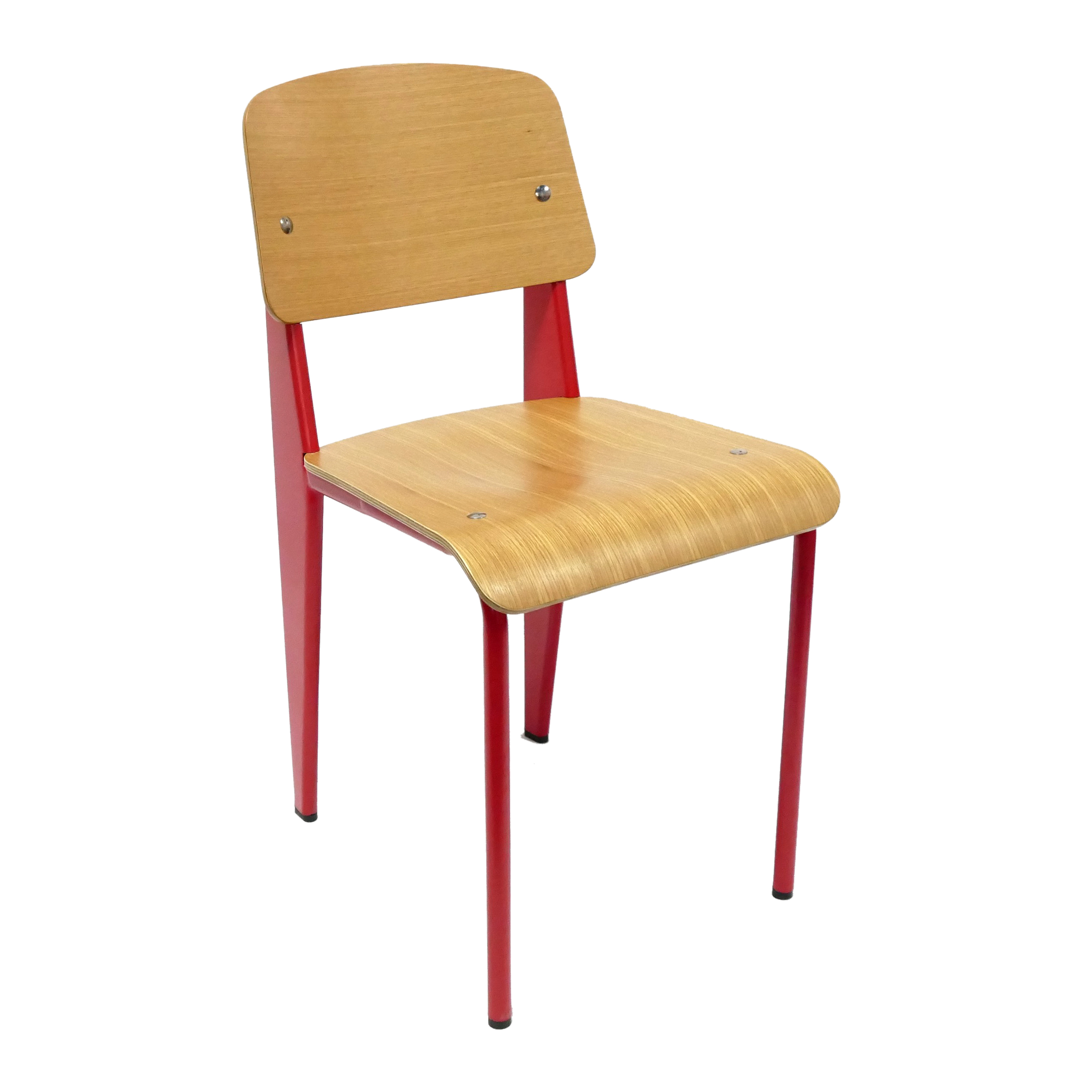 Standard <strong>Jean</strong> Prouve Dining Chair with wooden seat and back rest