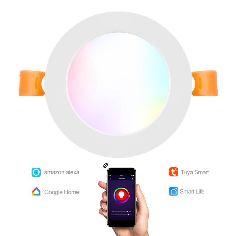 DSX Hot on sell phone control Led <strong>Downlights</strong> Smart wifi Dimmable RGB+CCT 10W Lights