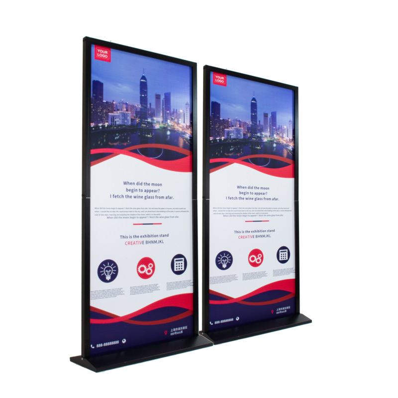 60w x 160h <strong>display</strong> black double sided poster frame outdoor advertising billboard stand