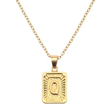 Jiushang hot sale fashion initial 14k gold filled letter pendant necklace for <strong>chain</strong>