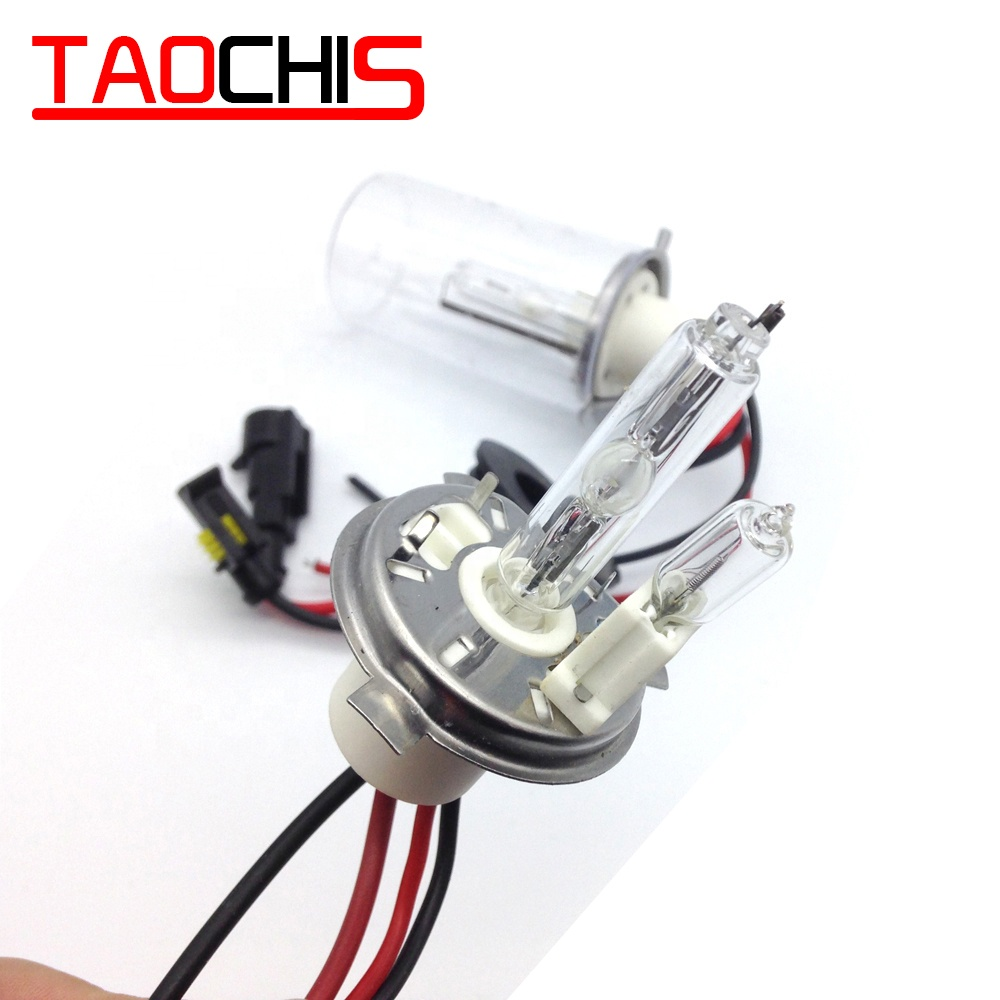 TAOCHIS retrofit 12V 100W H4-2 HID Xenon Bulbs Light 4300k 5000k 6000k 8000k H4/<strong>H</strong> H4/L Ceramics Base Car Headlight Conversion