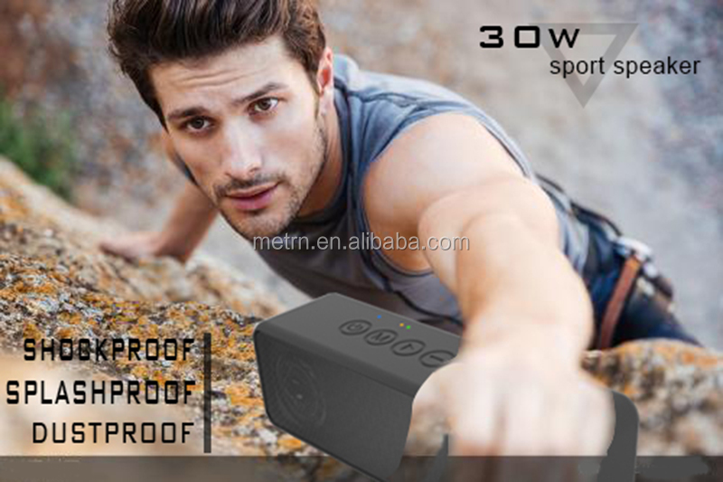 30W IPX6 4000mAh Capacity Outdoor Wireless portable Speakers for sports
