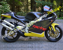 Racing Motorcycle For Aprilia RS250 1998 1999 2000 2001 2002 RS 250 98 99 00 <strong>01</strong> <strong>02</strong> Yellow Black Bodywork Fairing Aftermarket Kit