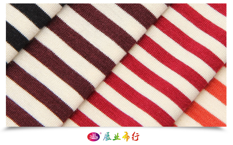 ready to ship 4S062 mercerized cotton rayon knitted fabric lycra spandex fabric striped for pajama sport t shirt dress cloth