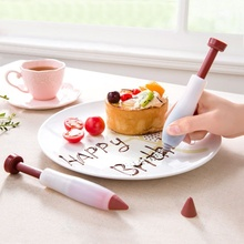 Pastry Food Cream Pen Chocolate <strong>Fruit</strong> Jam Design Cake Decorating Icing Piping Pen Cookie Pastry <strong>Nozzles</strong> Kitchen Accessories