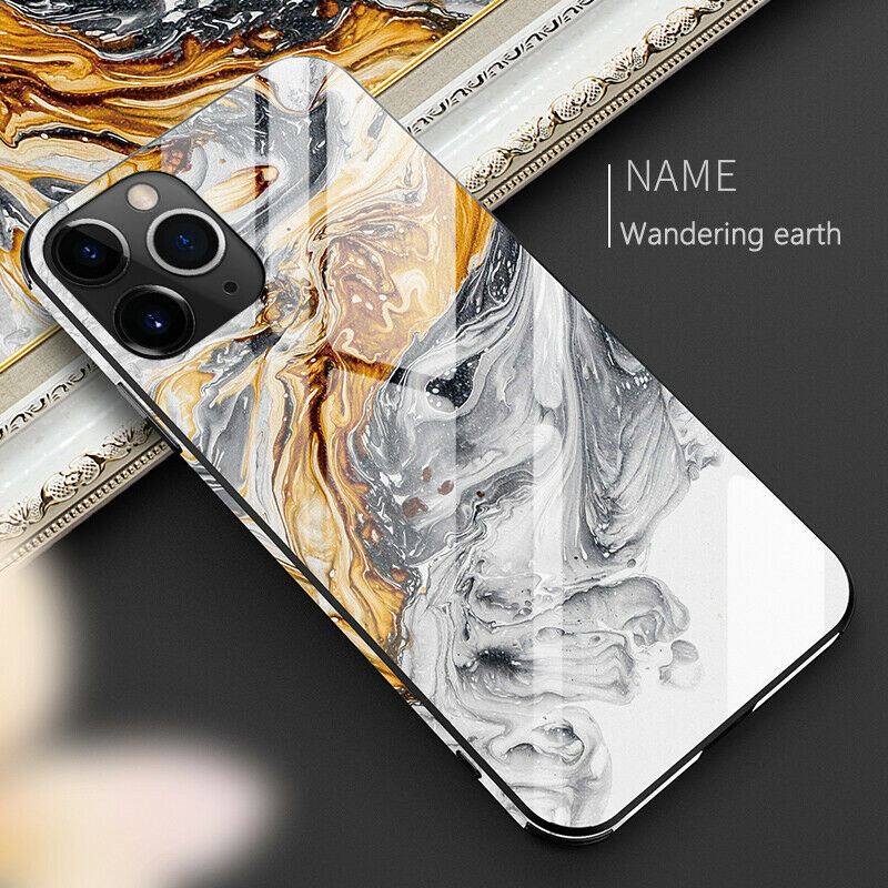 Luxury Tempered Glass Case for iPhone 11 Pro <strong>Max</strong> X XR XS <strong>Max</strong> 8 7 6 Plus Tempered Glass TPU Hard Marble Back Cover