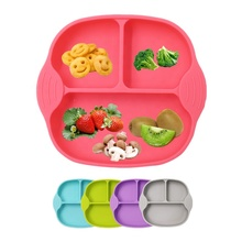 Manufacturer Custom FDA Certified Food Grade Non-slip Suction Kids Table Silicone Baby Soft <strong>Plate</strong>