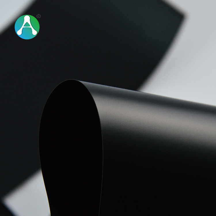 420 micron matte black PVC roll <strong>plastic</strong> for printing