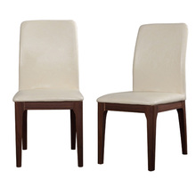 Modern Dining Chair Simple Wooden dining chair leather seat