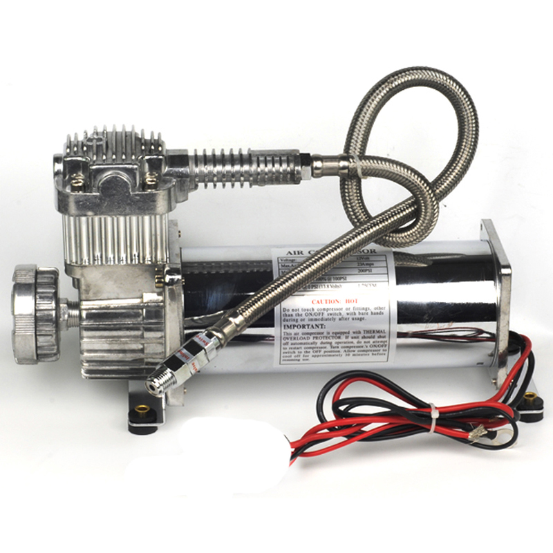 DC 12V 480c MAXPOWER 200 PSI OUTLET 3/8 or 1/4 car Air Suspension Compressor