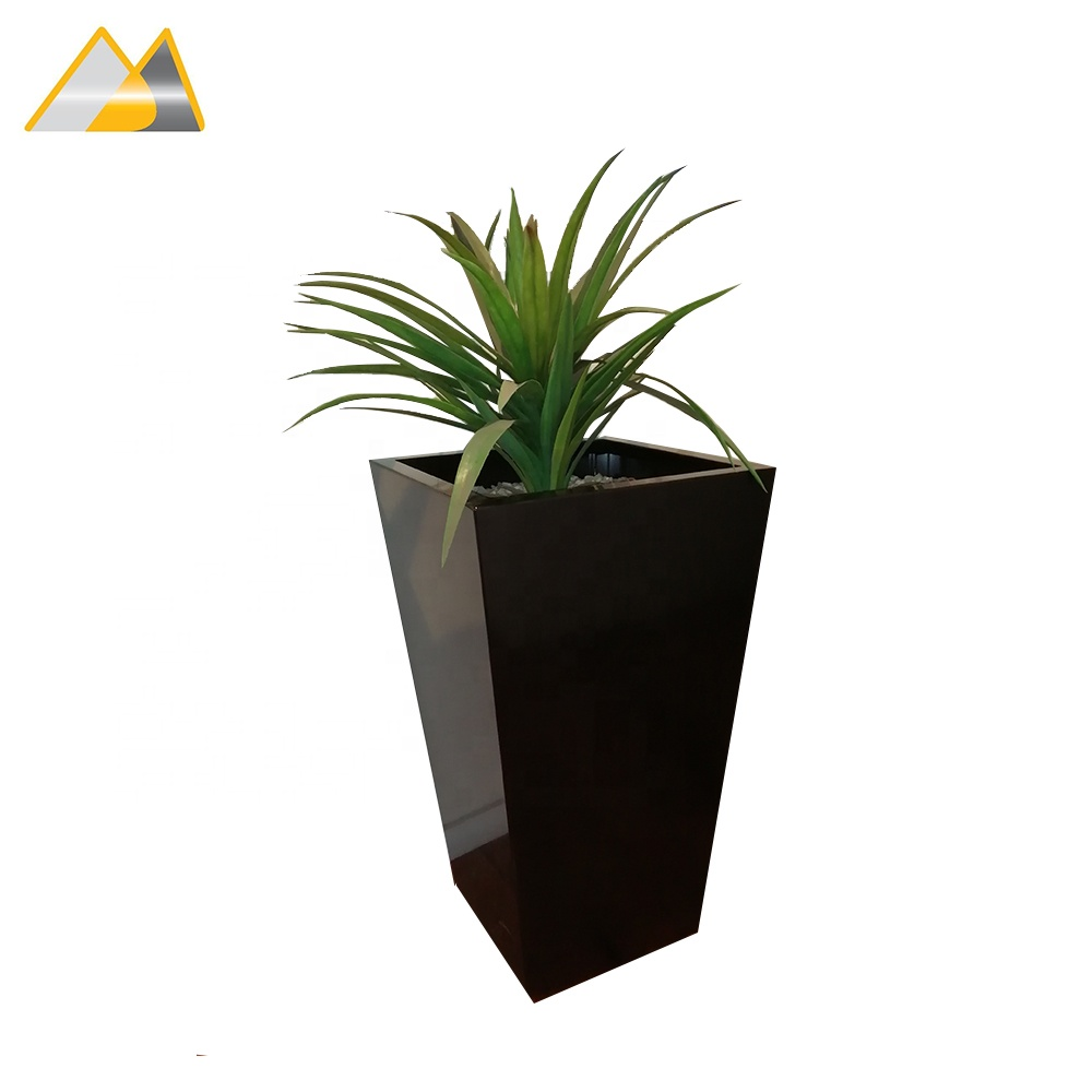 2mm Thick Tapered Aluminium 1060 Powder Coated Large Tree Pots, Big Tree Pot, Indoor Tree Pots