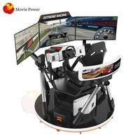 9D Virtual Reality 3Screen VR Racing Game Machine Best Selling Driving Simulator
