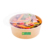 100% Eco Friendly Disposable Kraft Paper Salad Bowl With Lid