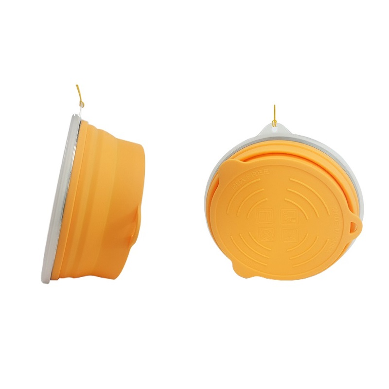 Wholesale Collapsible Bowls Silicone Folding Travel Bowl with Lids
