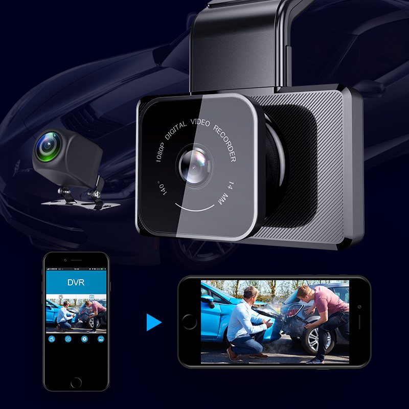 Full 1080P car dash camera video recorder Tekbow <strong>D15</strong> with high speed chip processor , WiFi, mobile APP
