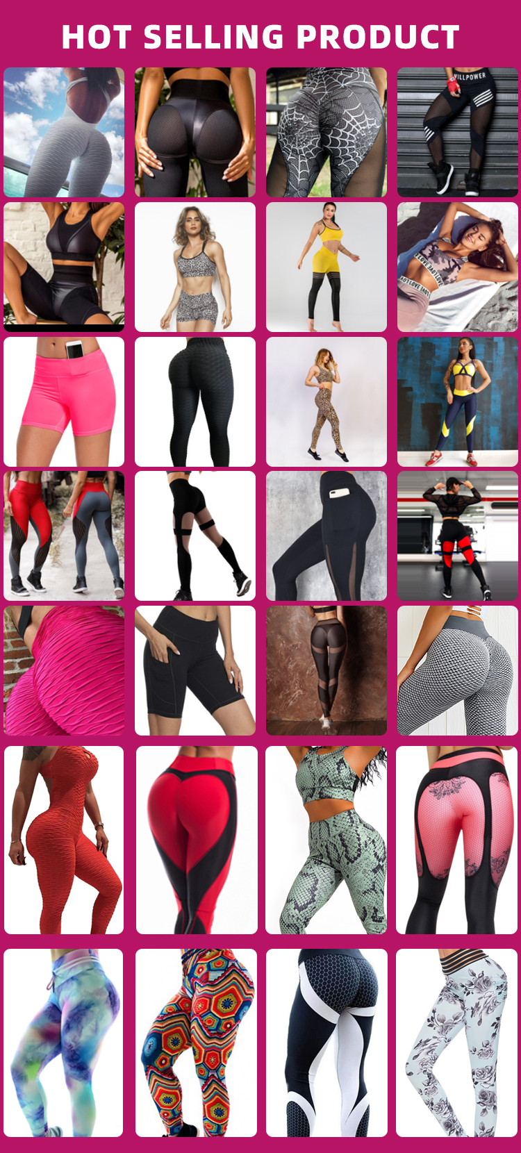 Uron 2019 New Hot Selling drop shopping wholesale Young Women Leggings Color Matching Sport Pants Dropship Yoga Pants