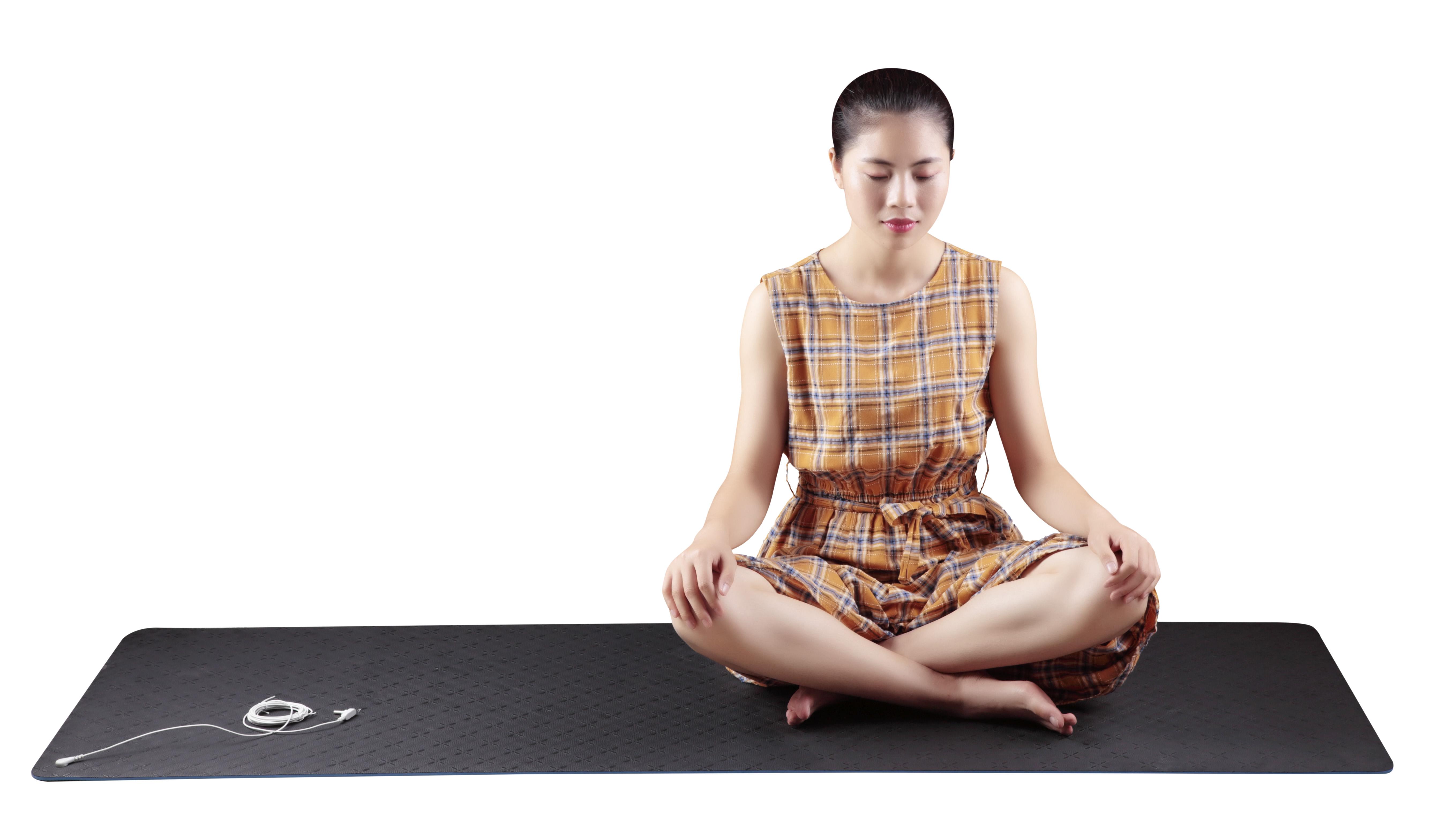 Maxsharer eco friendly blue conductive yoga mat