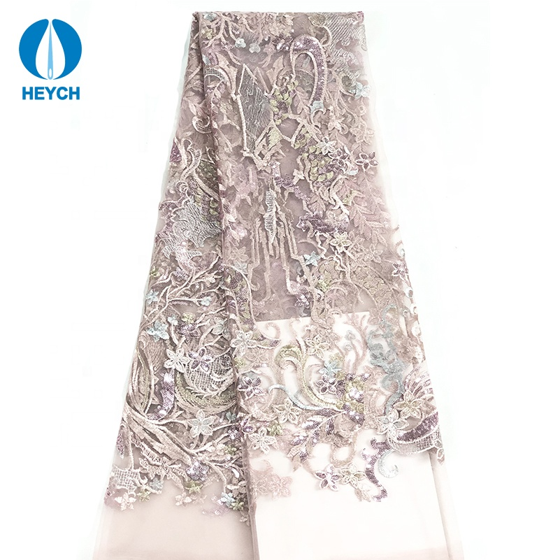 2019 New Design Lace Fabric High Quality Dragon Embroidery Mesh Lace Fabric Sewing <strong>Material</strong>