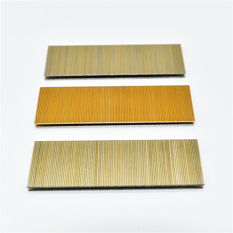 Home deco-ration nail  high quality material durable iron wire gold 90 series staples