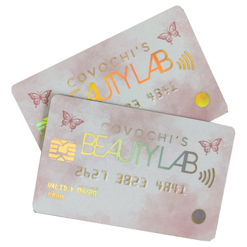 Customized plastic PVC credit card size business card/gift card