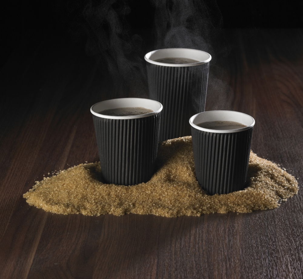 Beverage use ripple wall paper material coffee cup