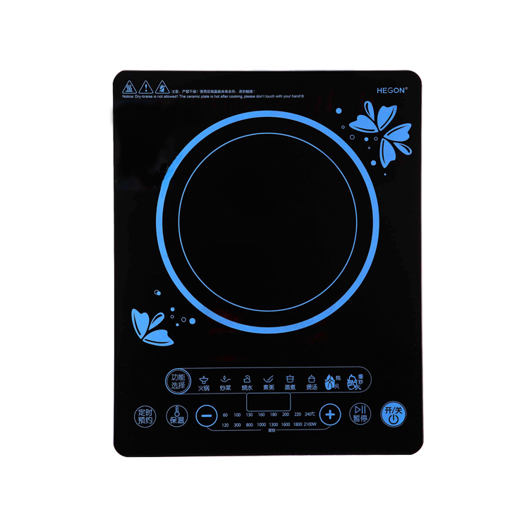 Production factory OEM custom digital printing processing low-cost touch decorative function high-end <strong>glass</strong> for induction cooker