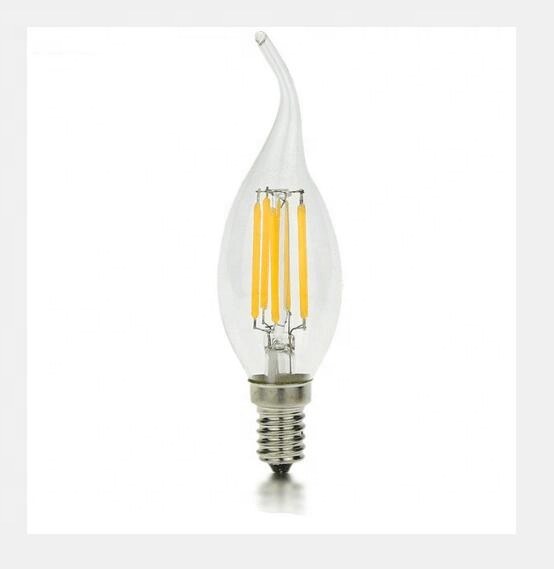 C35 LED Candle Bulbs 6w 360 degree led filament candle bulb led lighting <strong>E27</strong>