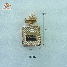 Perfume Bottle Pendant Jewelry Bottle Pendant With Diamond For Sweater