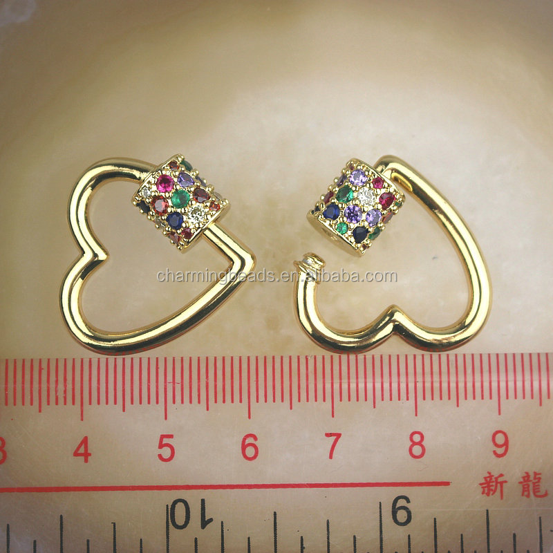 CH-LHP0325 Fashion cz clasp,cz clasp charm jewelry,diy necklace/earring jewelry accessories