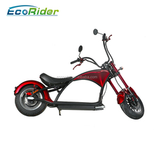 Fashionable 60V Electric Citycoco EcoRider E5-5 2000W Electric Motorcycle for Work
