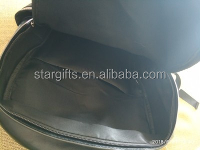 Travel College Black Cheap Casual School Students Casual Daypack PU Genuine Leather Backpack