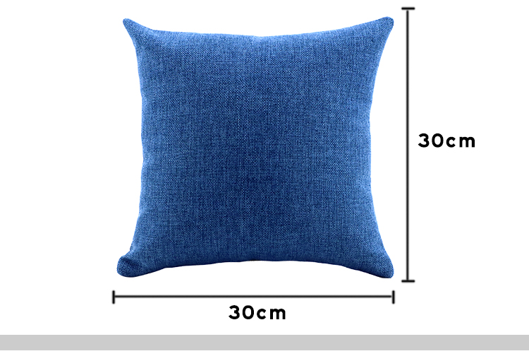 Sublimation Blanks Colorful Linen Pillow Case in Dark Blue for Heat Transfer Printing