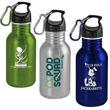 Promotional 17 oz Wide-Mouth Stainless Steel Sports Bottle