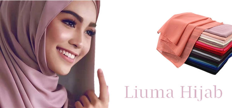 2020 New Fashion India Polyester Turbans Women Wearhead Hijab Without Pearls