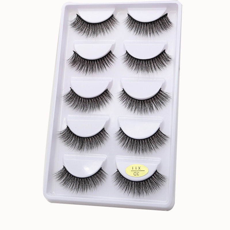 Own Brand/<strong>OEM</strong>/Private Label Wholesale 3D 100% Mink Fur False Eyelashes Silk Lashes Packaging fashion 3/5 pairs X11