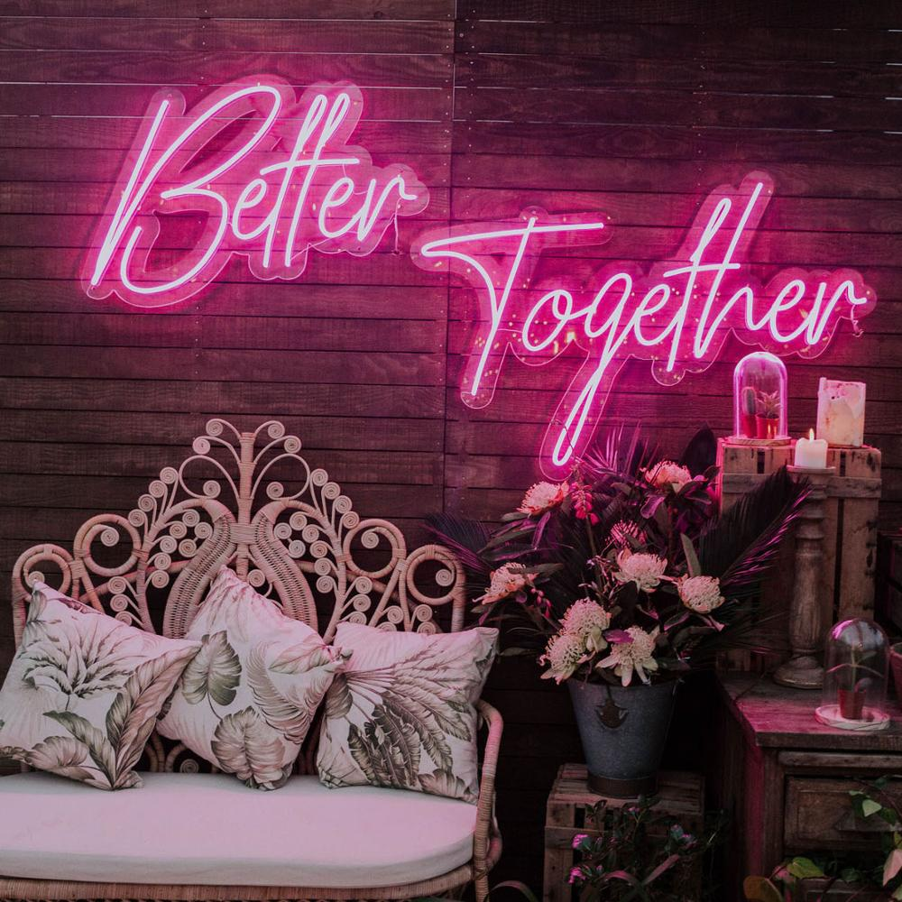 Outdoor custom acrylic led neon light letters <strong>sign</strong> romantic neon <strong>sign</strong> for wedding decoration