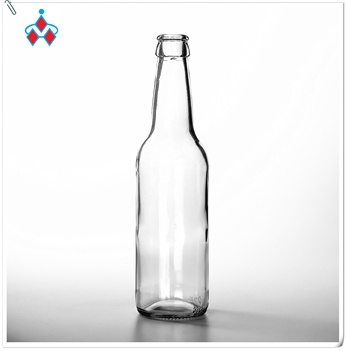 STOCK Most popular clear drink 330ml transparent glass beer bottle