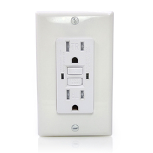 Free shipping 15 Amp GFCI Outlet 125 Volt Tamper-Resistant, Receptacle, Indicator with LED Light, Wallplate and Screws Included