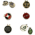Manufacturer cheap bulk golf ball markers and magnetic hat clip