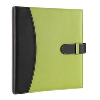 Factory Produce A4 Size Storage File 3 Hole Rings Leather Cover Binder Folder For Office