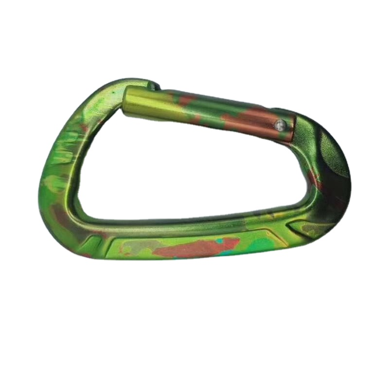 camouflage aluminium alloy locking carabiner <strong>hooks</strong>
