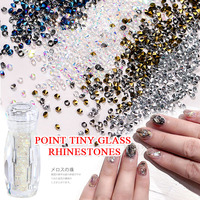 TSZS high quality wholesale glass bottled diamond nails accessories nail art deooration rhinestones