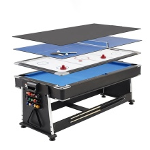 Factory Direct Rotatable 4 in 1 Multi game Snooker Billiard Tables