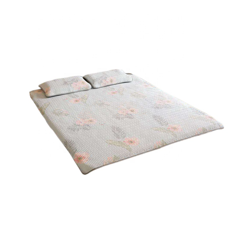 VLSM1022- Good Quality Factory Supplier Flower Ice Silk Natural Quilting Latex Simple Design Summer Cooling Sleep Mat 180*200 cm - Jozy Mattress | Jozy.net
