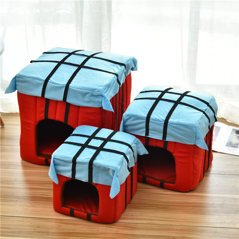 Chinese Supplier Beautiful Wholesale Airdrop Fabric Pet Dog House
