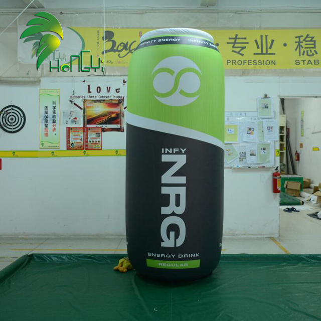Promotion advertising inflatable can , inflatable bottle with custom printed logo