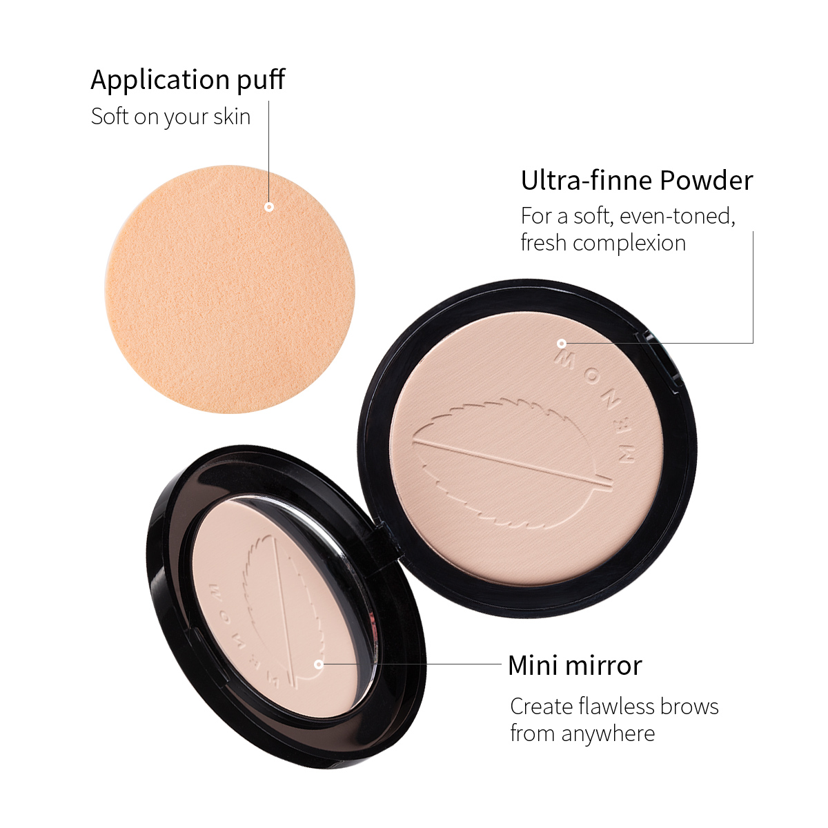 RTS Menow F644 Cosmetic Face Makeup Silky Pressed Powder